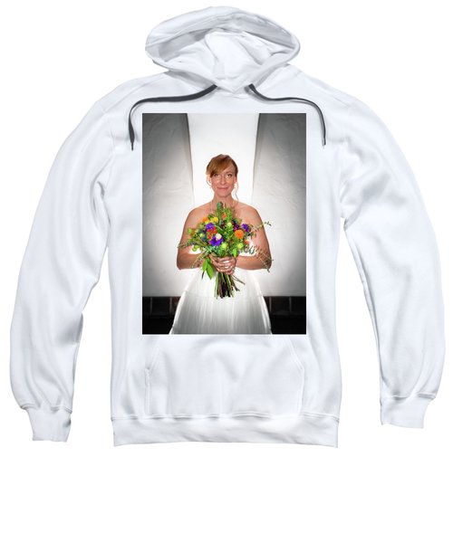 A Beautiful Backlit Bride And Her Bouquet Sweatshirt
