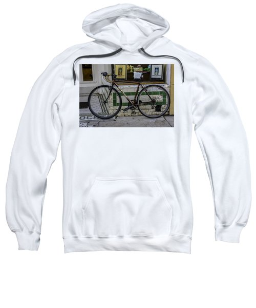 A Bicycle In The French Quarter, New Orleans, Louisiana Sweatshirt