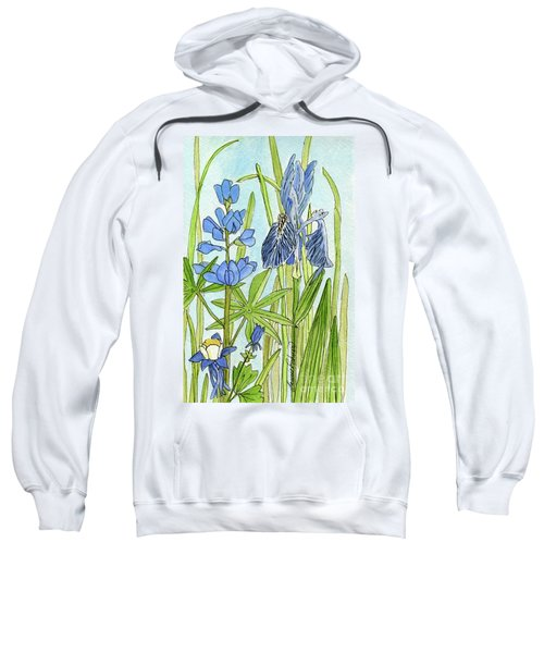 A Blue Garden Sweatshirt