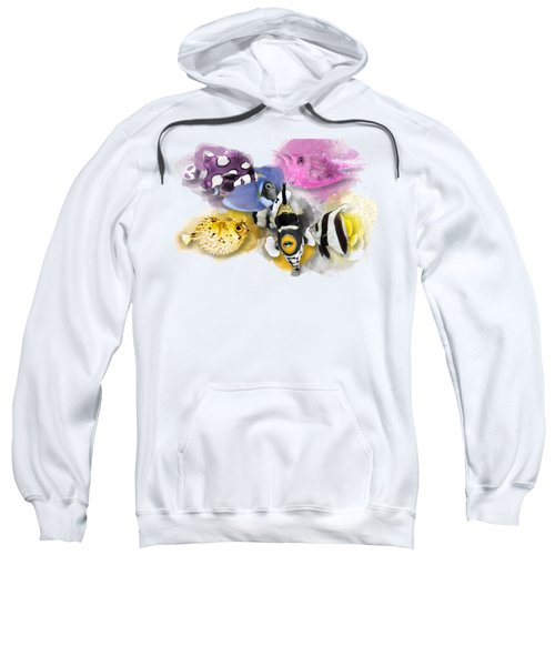 A Bunch Of Colorful Fish No 01 Sweatshirt