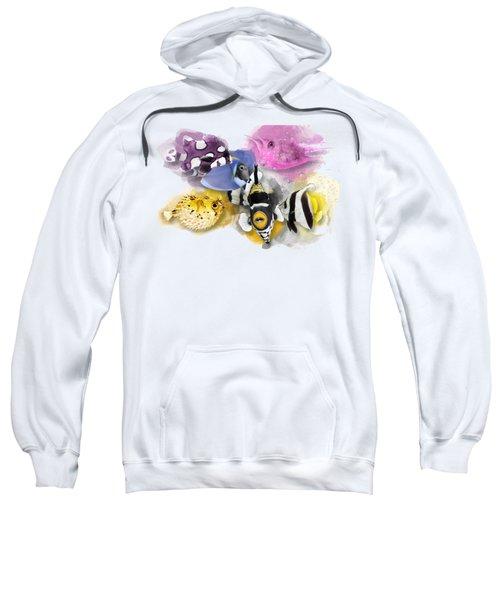 A Bunch Of Colorful Fish No 01 Sweatshirt