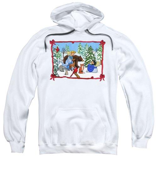 A Christmas Scene 2 Sweatshirt by Sarah Batalka