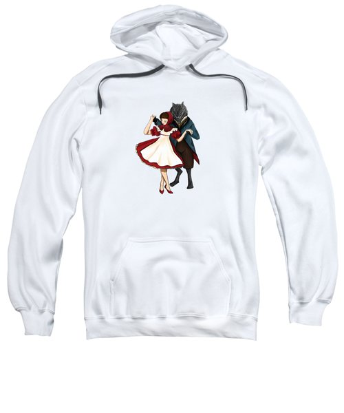 A Dangerous Dance Red Hood And The Wolf Art Print Sweatshirt