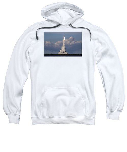 A Delta Iv Rocket Soars Into The Sky Sweatshirt
