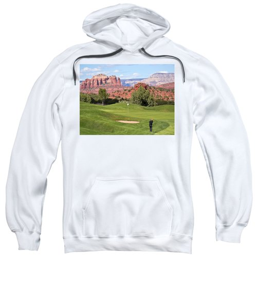A Golfer Takes A Chip Shot From The Rough Sweatshirt