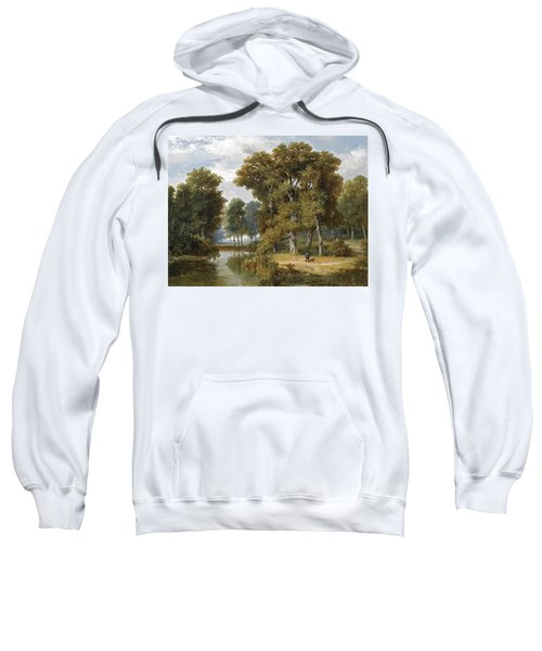 A Hunter And An Angler In A Wooded Landscape Sweatshirt