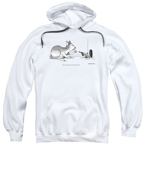 A Mouse Is In Front Of A Mouse Hole Pointing Sweatshirt