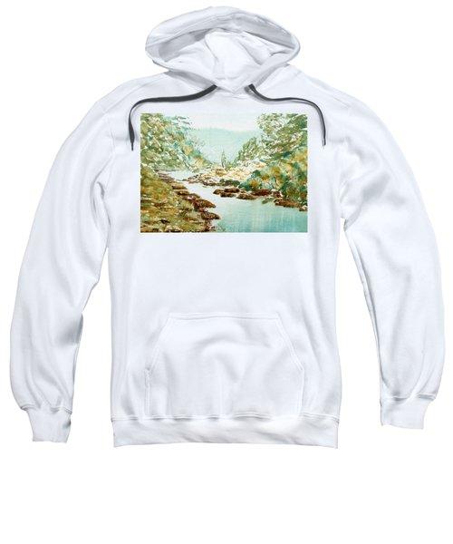 A Quiet Stream In Tasmania Sweatshirt