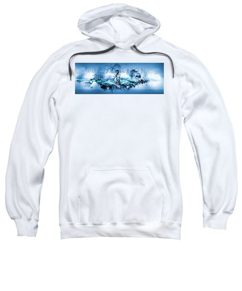 Sweatshirt featuring the painting A Rower's Fantasy by Hanne Lore Koehler