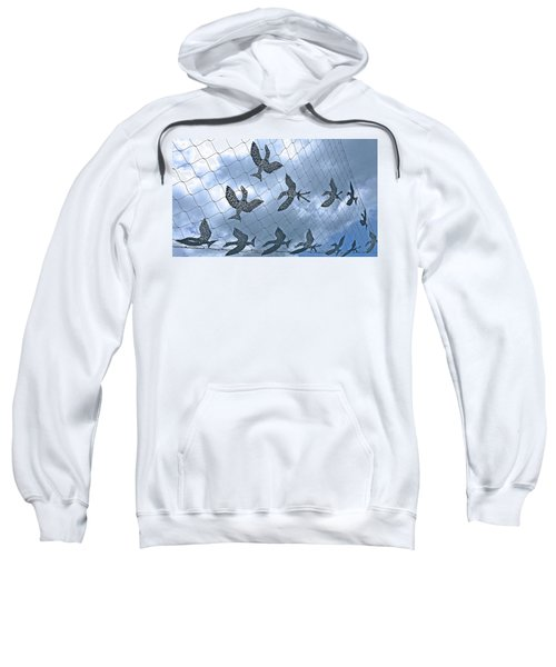 A Sculptural Flock No. 103-1 Sweatshirt by Sandy Taylor