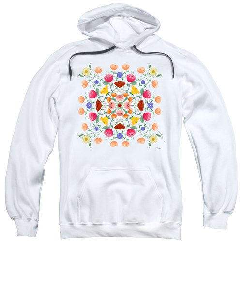 A Symphony Of Dancing Floral Delights Sweatshirt