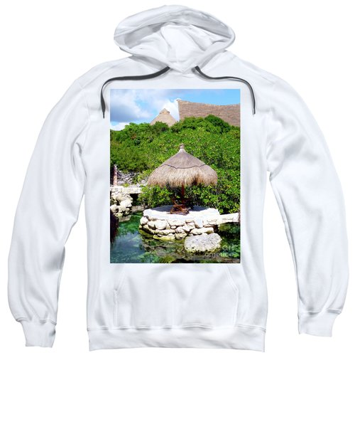 Sweatshirt featuring the photograph A Tropical Place To Relax by Francesca Mackenney