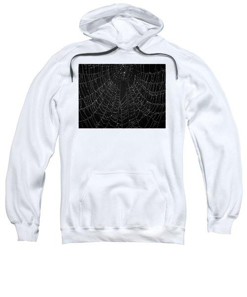 A Web Of Silver Pearls Sweatshirt