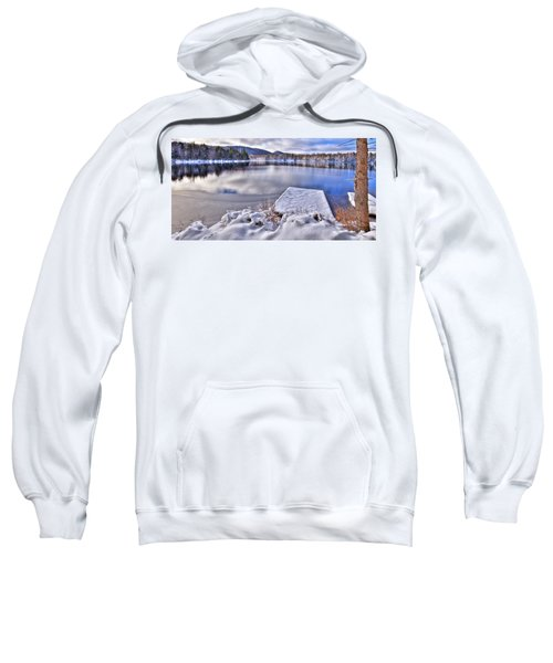 Sweatshirt featuring the photograph A Winter Day On West Lake by David Patterson