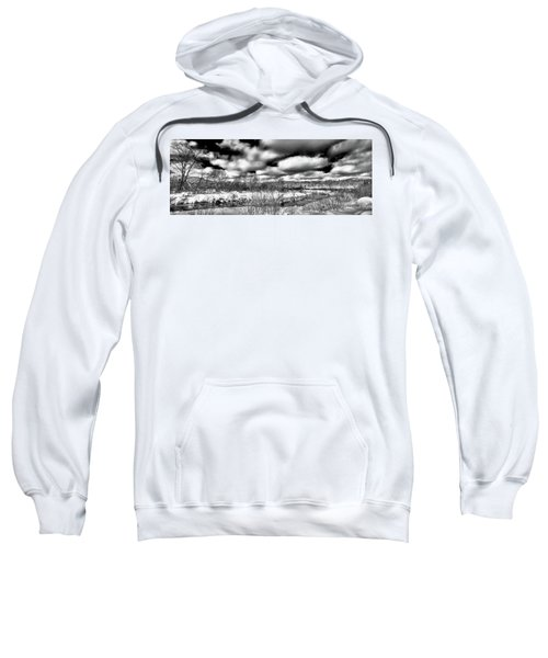 Sweatshirt featuring the photograph A Winter Panorama by David Patterson