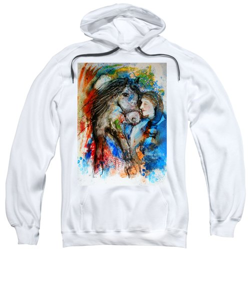 A Woman And Her Horse Sweatshirt
