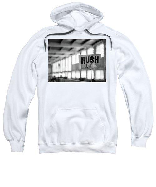 Abandoned Factory, Lewiston, Maine  -48683-bw Sweatshirt