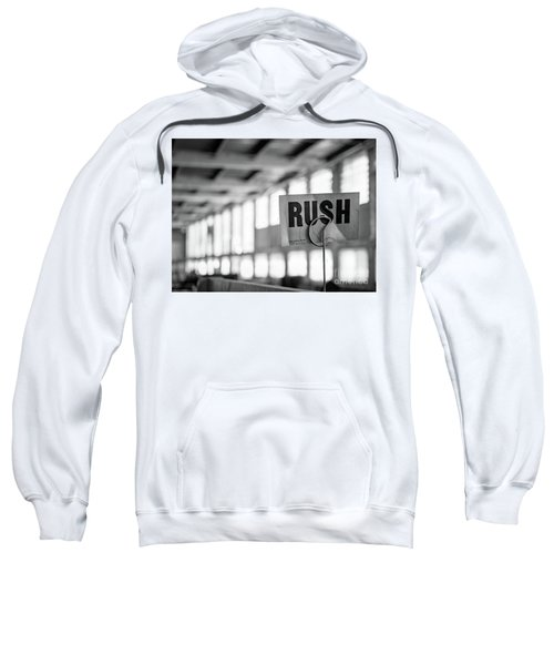 Abandoned Factory, Lewiston, Maine  -48683-bw Sweatshirt