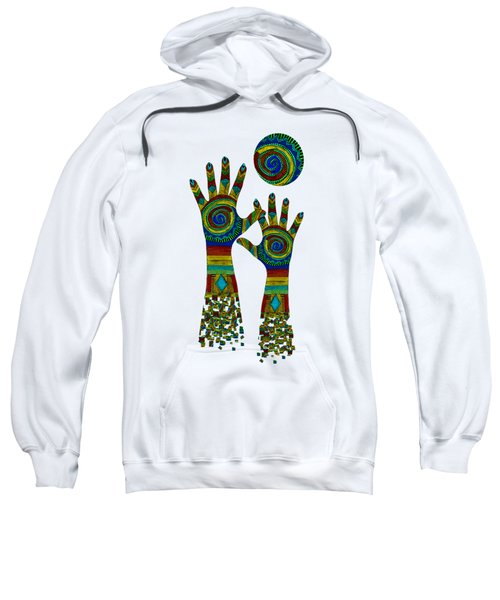 Aboriginal Hands Gold Transparent Background Sweatshirt