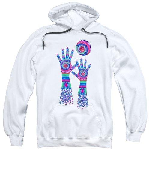 Aboriginal Hands Pastel Transparent Background Sweatshirt