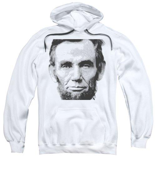 Abraham Lincoln - Parallel Hatching Sweatshirt by Samuel Majcen