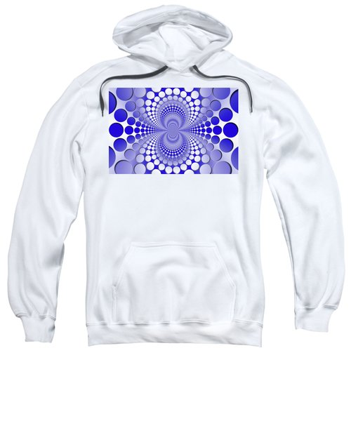 Abstract Blue And White Pattern Sweatshirt