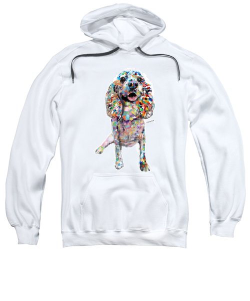 Abstract Cocker Spaniel Sweatshirt