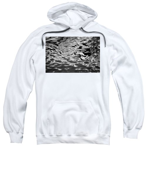 Abstract Dock Reflections I Bw Sweatshirt