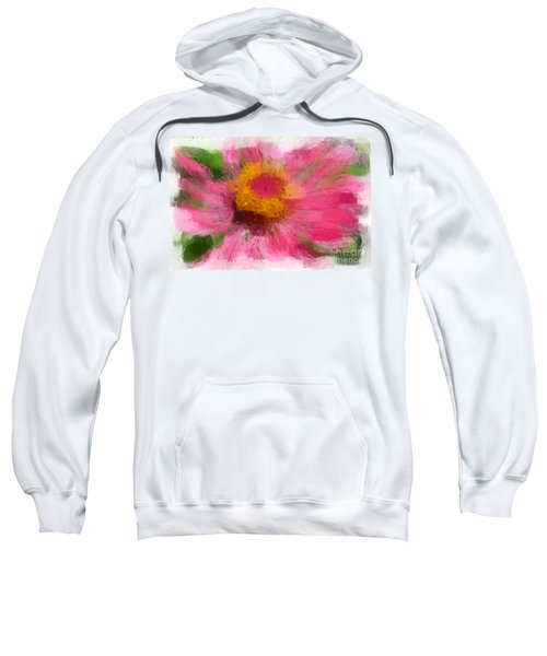 Abstract Flower Expressions Sweatshirt
