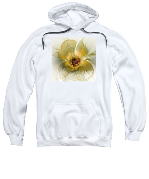Abstract Flower With Silky Elegance Sweatshirt