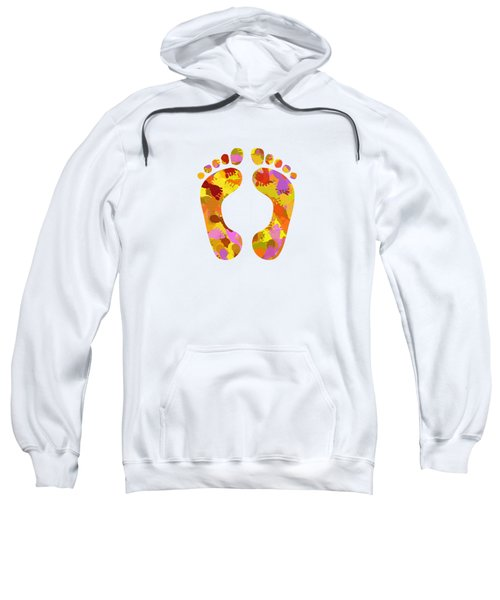 Abstract Footprints On Canvas Sweatshirt
