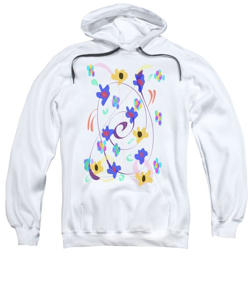 Abstract Garden Nr 7 Naif Style Sweatshirt