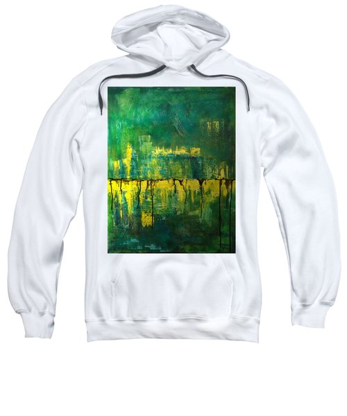 Abstract In Yellow And Green Sweatshirt