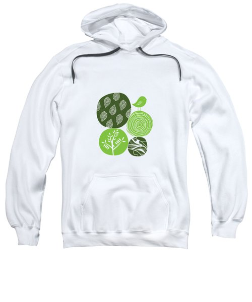 Abstract Nature Green Sweatshirt
