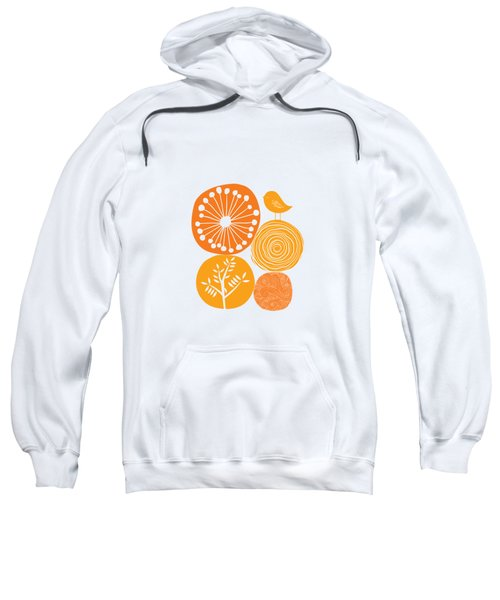 Abstract Nature Orange Sweatshirt