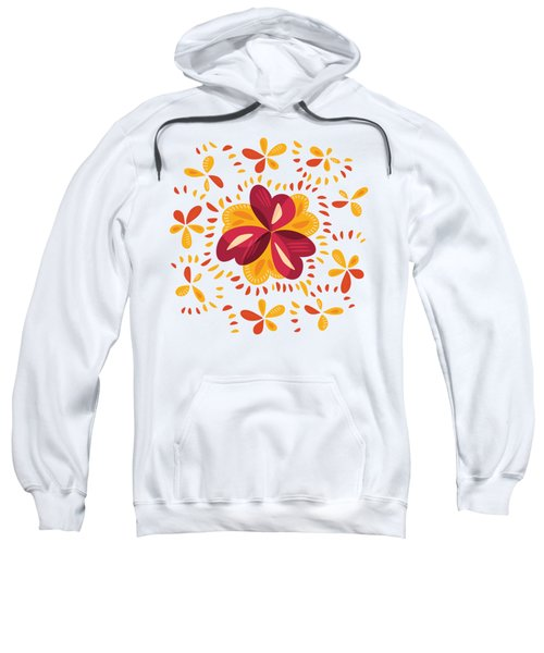 Abstract Pink And Yellow Clover Sweatshirt