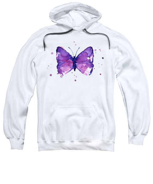 Abstract Purple Butterfly Watercolor Sweatshirt