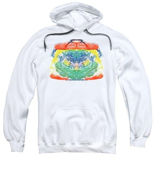 Abstract Watercolors Splatters, Splinter, Blotches, Blots And Bl Sweatshirt