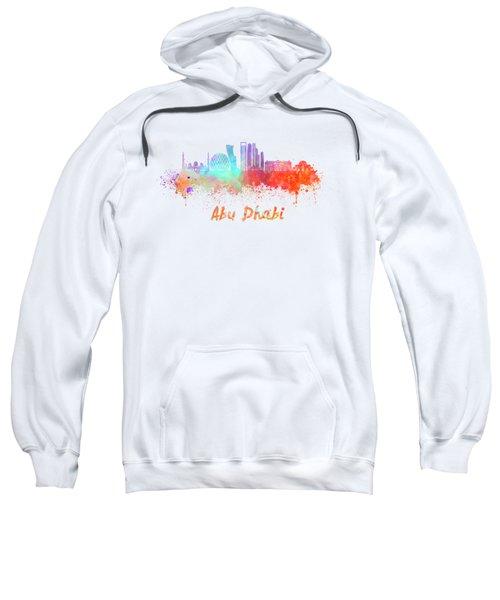 Abu Dhabi V2 Skyline In Watercolor Sweatshirt