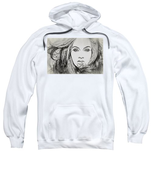 Adele Charcoal Sketch Sweatshirt
