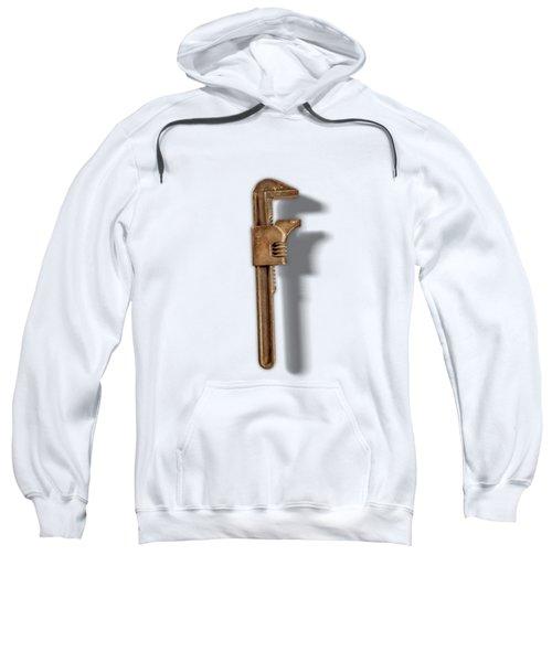 Adjustable Wrench Back On Color Paper Sweatshirt