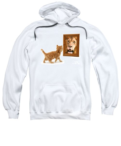 Admiring The Lion Within Sweatshirt