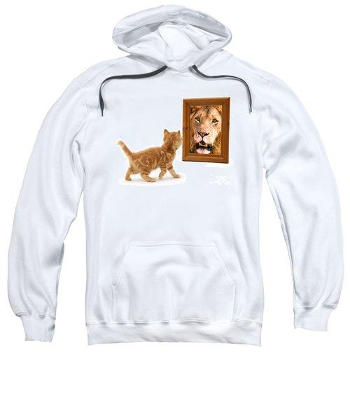 Admiring The Lion Within Sweatshirt