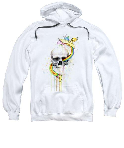 Adventure Time Skull Jake Finn Lady Rainicorn Watercolor Sweatshirt