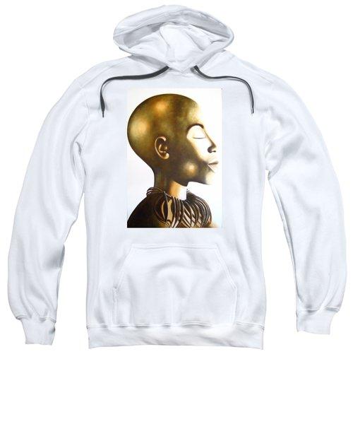 African Elegance Sepia - Original Artwork Sweatshirt