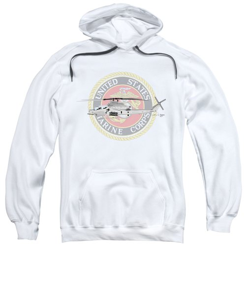 Ah-1z Viper Usmc Sweatshirt by Arthur Eggers