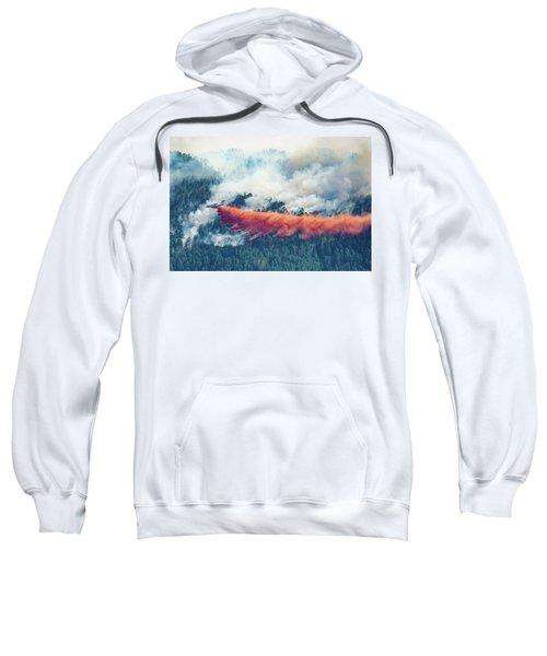 Air Tanker On Crow Peak Fire Sweatshirt