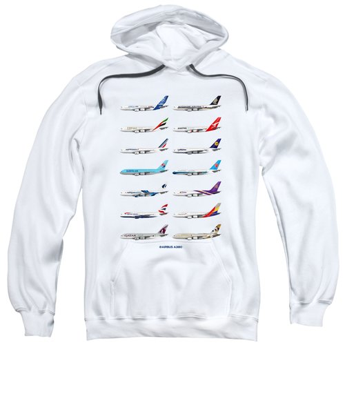 Airbus A380 Operators Illustration Sweatshirt
