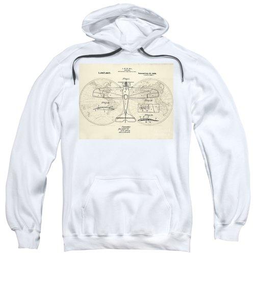 Airplane Patent Collage Sweatshirt