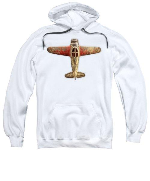 Airplane Scrapper On Color Paper Sweatshirt